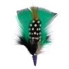 Hat Trim Turkey Plumage/guinea Green/black/white 7cm